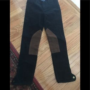 POLO by Ralph Lauren corduroy riding pant w/ suede